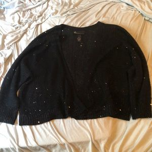 Lane Bryant 3/4 Sleeve Sequined Sweater